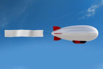 Zeppelin mit Banner