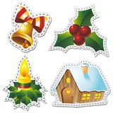 Natale Stickers Christmas-Adesivi Decorazione-3-Vector