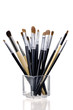 cosmetic brushes in cup