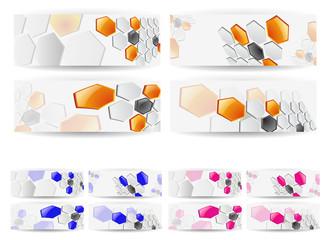 Abstract Vector Horizontal Technology Banner