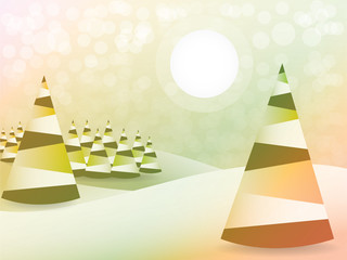 Abstract christmas tree background - illustration