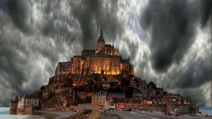 Nuages HDR sur le Mont Saint Michel