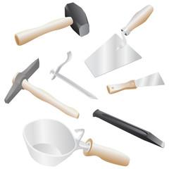 isolated realistic illustration of masons tool