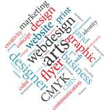 Webdesign communication word cloud.