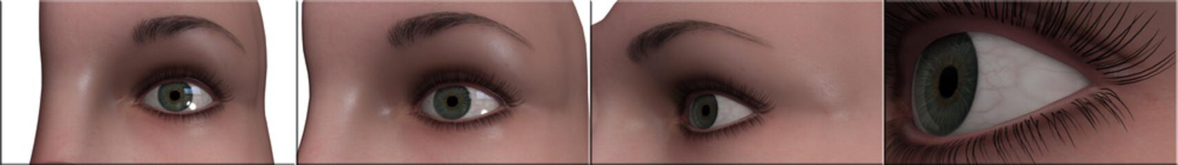 occhio visualizzazione 3d iride cornea