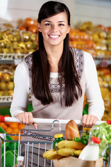 Female in supermarket