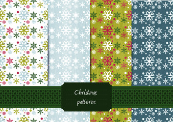 Christmas seamless pattern set – eps10