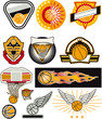 basketball vector badges