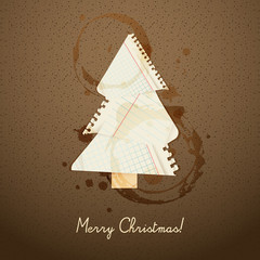 Christmastree background design, EPS10