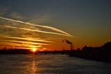 Neva river at sunset, St.Petersburg poster