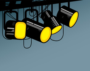 Stage light, vector illustration