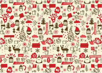 vector, christmas repetive pattern
