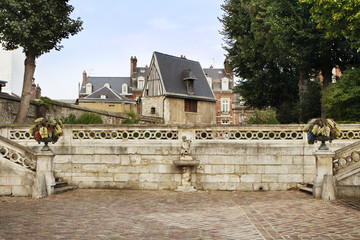 rouen, garden view, france