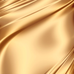 Smooth golden satin