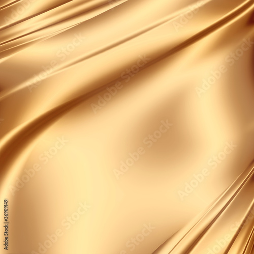 Fotobehang Stof Smooth golden satin
