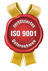 iso 9001 zertifikat zertifiziertes unternehmen siegel