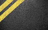 black asphalt yellow markings