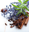 Rosemary, dried lavender and spices
