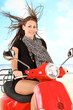 Rollerfahren am Strand