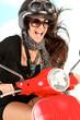 Spaß beim Rollerfahren