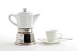 Espressokocher und Espressotasse