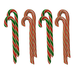 many delicious handmade candy canes
