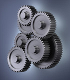 Several gear wheels smybolizing accuracy