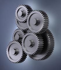 Several gear wheels smybolizing accuracy