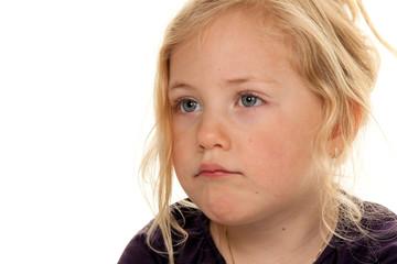 Portrait eines kleinen Mädchens.