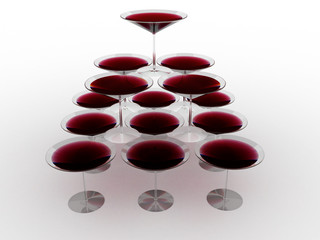 Glass wine glasses with colored liquid №11