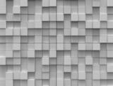 Abstrakcyjne tło - białe kostki  różna wysokość - 36916775