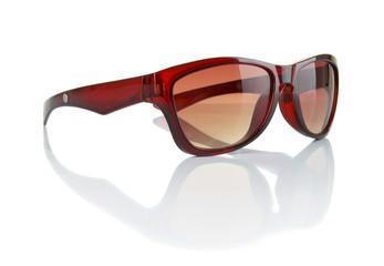 Stylish sunglasses isolated on white