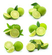 Collage of juice lime