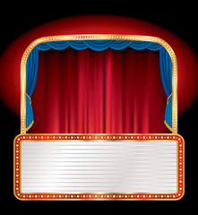 red billboard stage