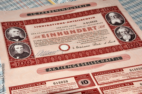 Historisches Wertpapier
