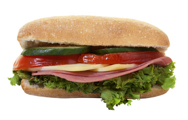 Delicious Sandwich on White