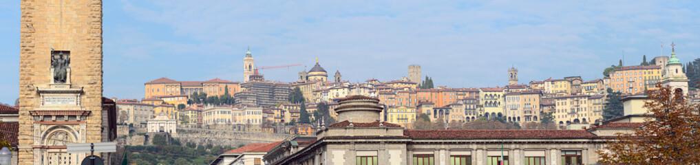 Panorama of Citta Alta, Bergamo, Lombardy, Italy, Europe