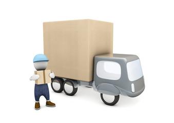 livreur & camion