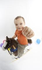 Boy on the horse