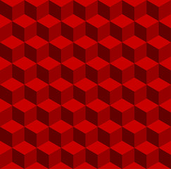 Isometric pattern in three red color tones