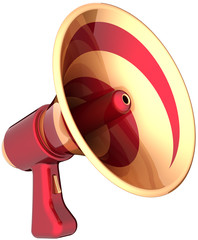 Megaphone news communication announcement symbol