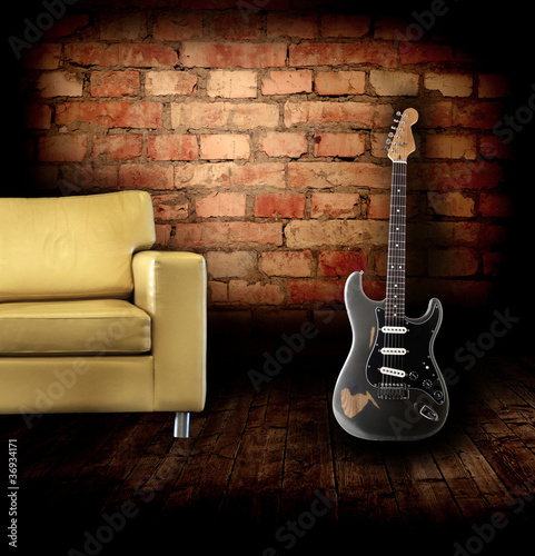 Electric guitar in the room