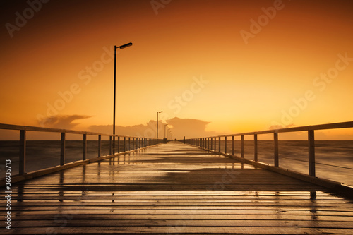 canvas print picture Jetty Sunset