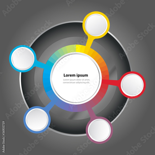 Vector graph color spectrum background