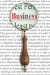 Magnifying glass and word Business
