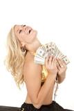 woman greed genie head back poster