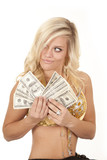 woman greed genie money poster