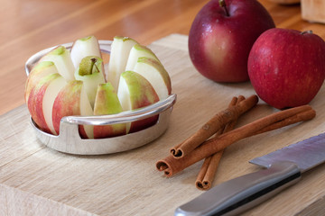 Apple Slicer and Cinnamon Sticks