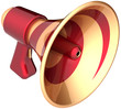 Megaphone announcement communication loudspeaker news