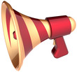 Megaphone news communication announcement loudspeaker
